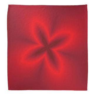 Neon Red Flower Bandannas