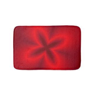 Neon Red Flower Bath Mats