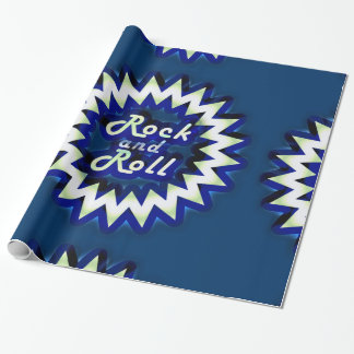Neon Rock and Roll Wrapping Paper