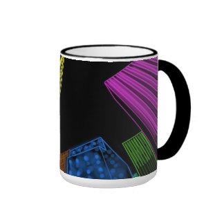 Neon Rockefeller Skyline Ringer Mug