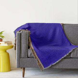 Neon Royal Blue Color Velvet Look Throw Blanket