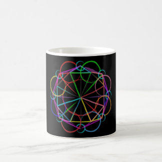 Neon Sacred Geometry Expansion Mug