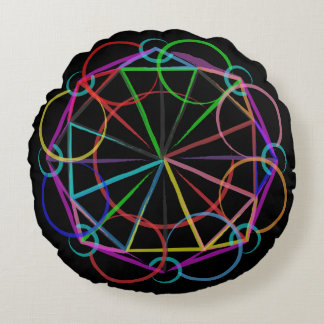 Neon Sacred Geometry Expansion Pillow