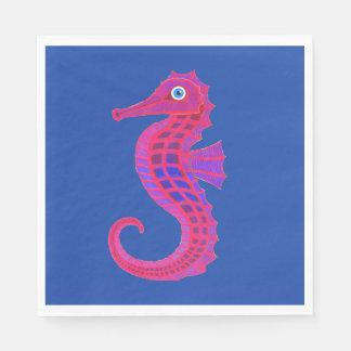 Neon Seahorse paper napkins Paper Napkin
