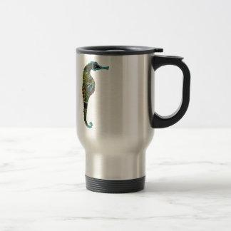 Neon Seahorse Travel Mug