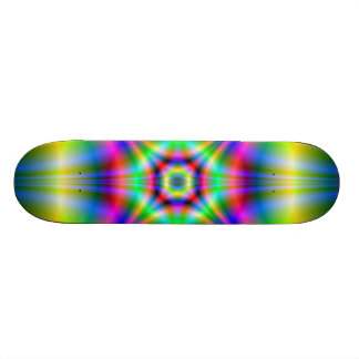 Neon Shapes Skateboard