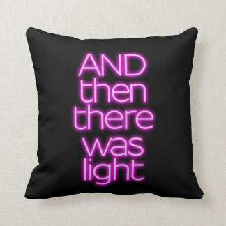 Neon sign light good motto hope bible pillow