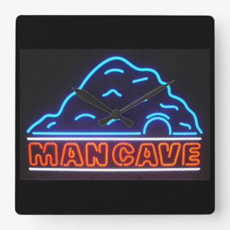 Neon Sign Man Cave Wall Clock