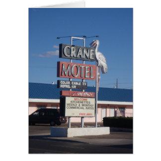 Neon Signs - Crane Greeting Card