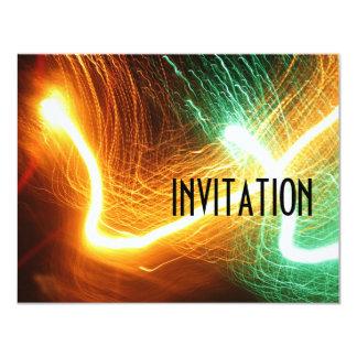 Neon Sizzle Birthday party invite