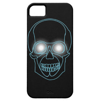 Neon skull with shining eyes design iPhone 5 case