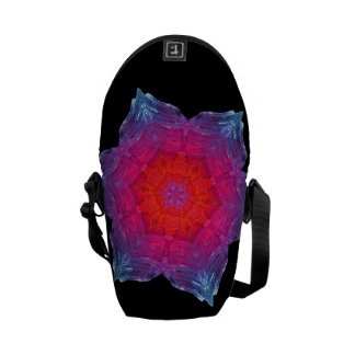 Neon Snowflake Courier Bag