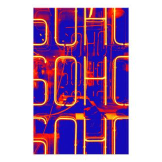 Neon Soho Sign Illuminated in London Stationery