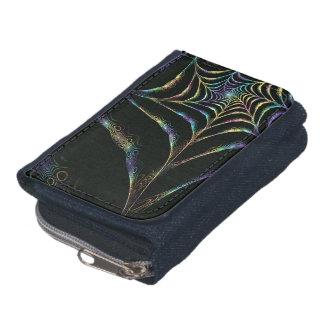 Neon spider net wallet