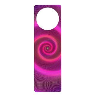 Neon spiral door knob hangers