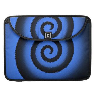 neon spiral Macbook pro flap sleeve Sleeve For MacBooks