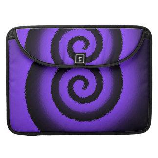 neon spiral Macbook pro flap sleeve Sleeves For MacBook Pro