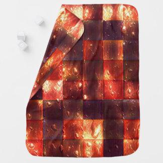 Neon Squares Baby Blanket