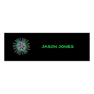 Neon Star Flower Profile Card Pack Of Skinny Business Cards