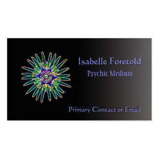 Neon Star Flower Psychic Services Card Pack Of Standard Business Cards