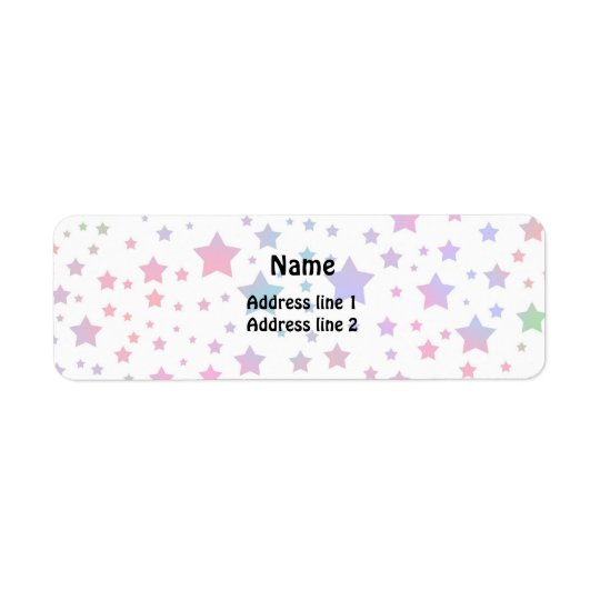 Neon Stars Return Address Label
