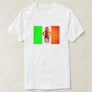 Neon Straight Fire T-shirt in WHITE