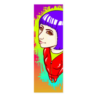 Neon Street Bookmark Pack Of Skinny Business Cards