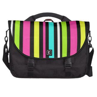 Neon Stripes Commuter Bags
