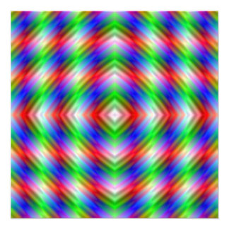 Neon Stripes Photo Print