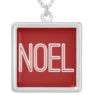 Neon Style Noel Silver Plated Necklace