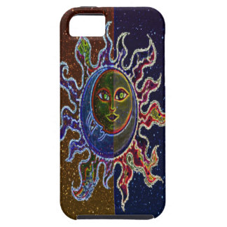 Neon Sun Moon Case For The iPhone 5