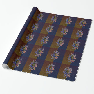 Neon Sun Moon Wrapping Paper