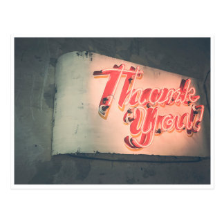 Neon Thank You Postcard