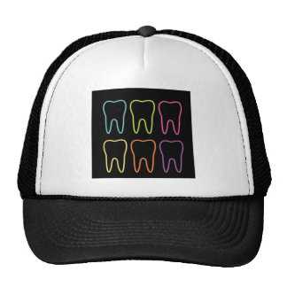 Neon tooth graphic for dentist cap