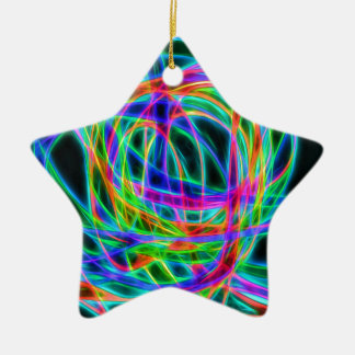 neon traffic ceramic star decoration