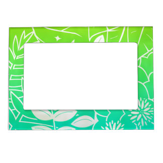 "Neon Tropical Foliage 5""x7"" Magnet Picture Frame Magnetic Frames"