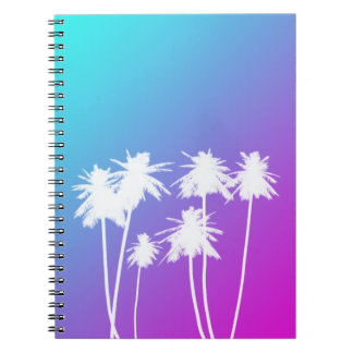 Neon tropical notebook