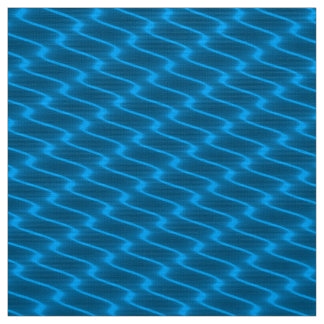 Neon Turquoise Wavy Lines Fabric Pattern