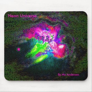 Neon Universe, By Mo Anderson Mouse Pad