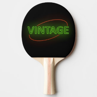 Neon vintage. ping pong paddle