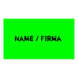 Neon - visiting cards business card