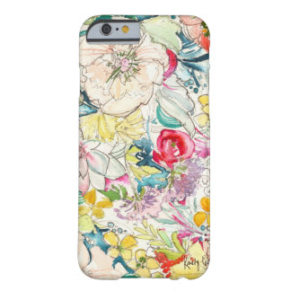 Neon Watercolor Flower iPhone 6 case Barely There iPhone 6 Case