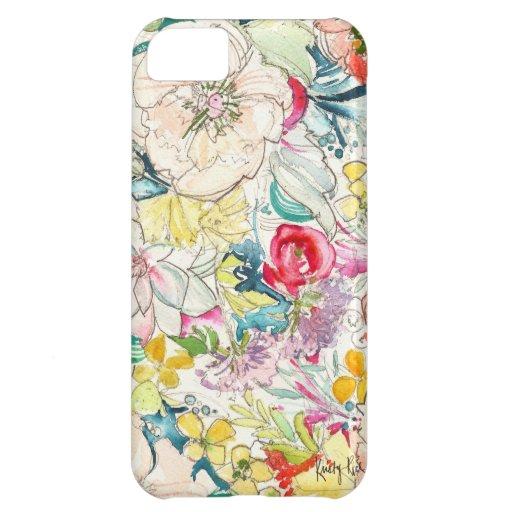 Neon Watercolor Flower iPhone Case iPhone 5C Cases