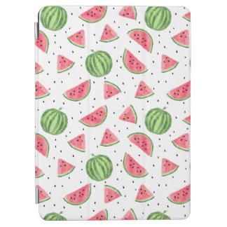 Neon Watercolor Watermelons Pattern