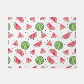 Neon Watercolor Watermelons Pattern Doormat