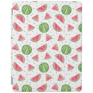 Neon Watercolor Watermelons Pattern iPad Cover