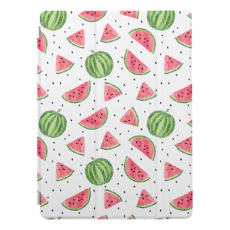 Neon Watercolor Watermelons Pattern iPad Pro Cover