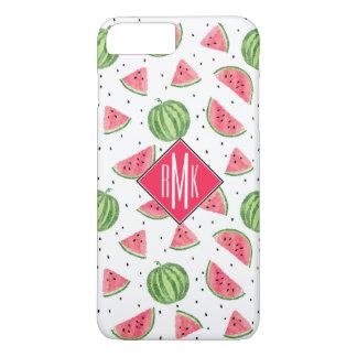 Neon Watercolor Watermelons Pattern iPhone 8 Plus/7 Plus Case