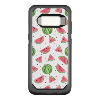 Neon Watercolor Watermelons Pattern OtterBox Commuter Samsung Galaxy S8 Case