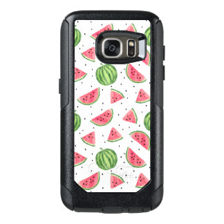 Neon Watercolor Watermelons Pattern OtterBox Samsung Galaxy S7 Case